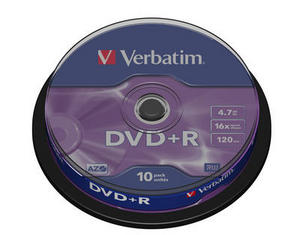 Spindle de 10 DVD+R 4.7 G°