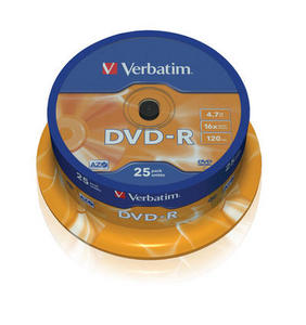 Spindle 25 DVD-R 4,7 GB 16x